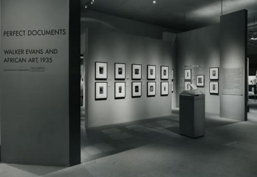 Perfect Documents: Walker Evans and African Art 1935.The Metropolitan Museum of Art, February 1 - September 3, 2000